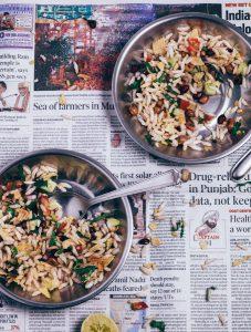 gepuffter reis salat indisch