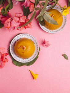 mango safran dessert halwa