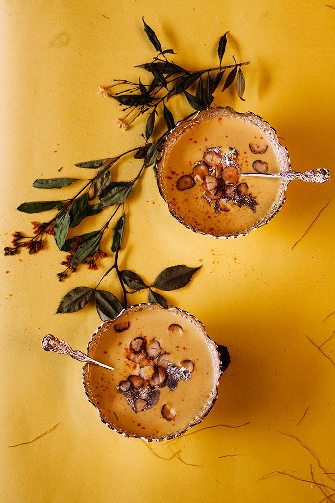 Sweet Corn Saffron Dessert