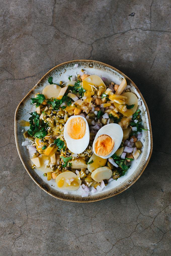 Rezept für Kartoffel-Sprossen-Salat